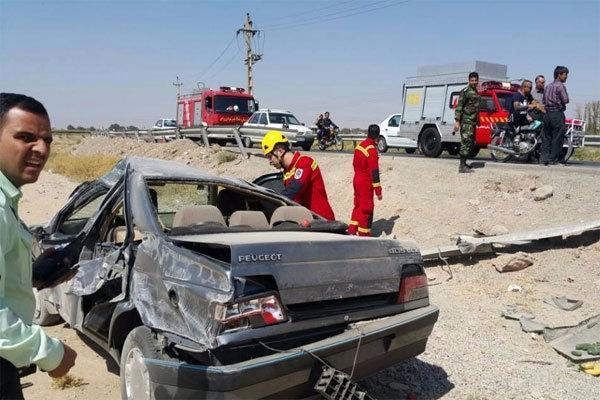 واژگونی خودرو پژو در ورامین 2 مصدوم برجا گذاشت